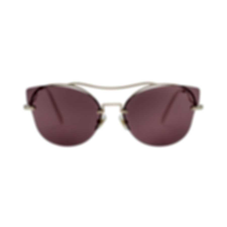 Miu Miu Gold And Purple Women's Metal Sunglasses MU52SS-ZVN0A0