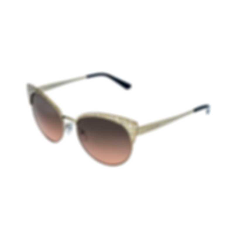 Michael Kors Satin Pale Gold Gray Orange Gradient Sunglasses MK1023-118918