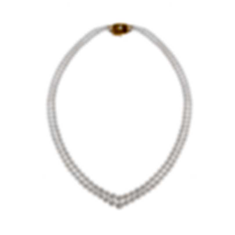 Mikimoto 18k Rose Gold And Akoya Pearl Necklace V-NECK