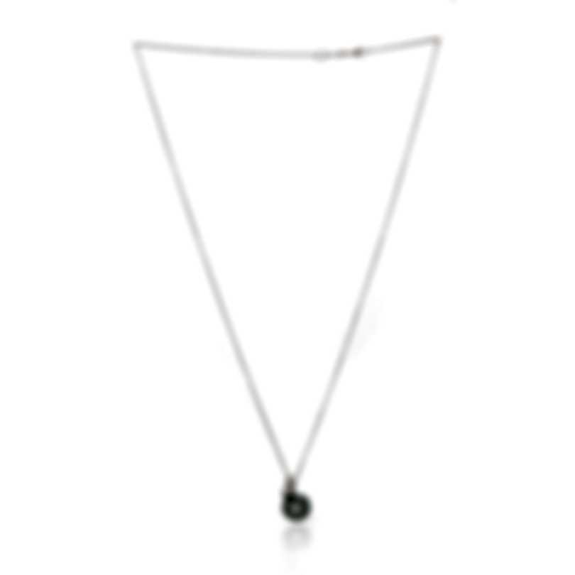 Mikimoto 18k White Gold Diamond 0.10ct And Pearl Pendant Necklace
