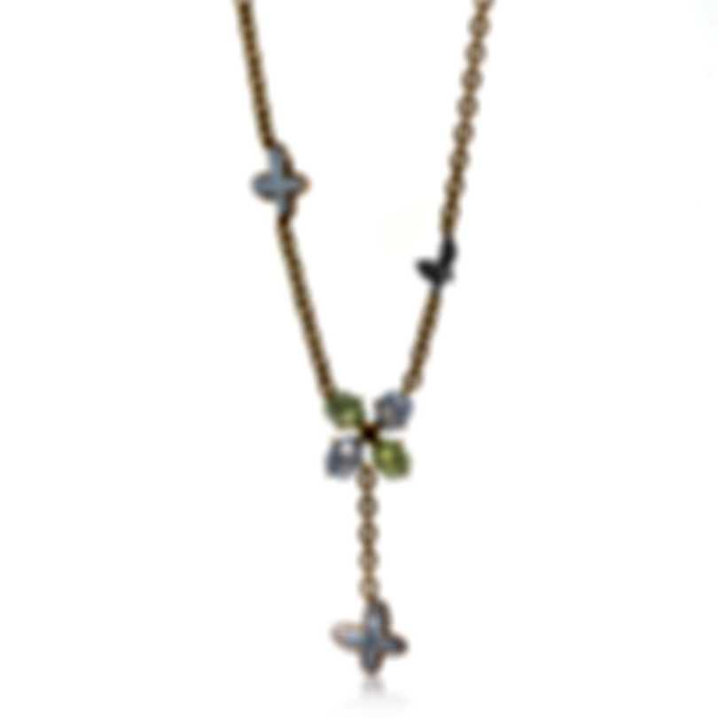 Mimi Milano Freevola 18k Gold Diamond .15ct Prehnite-MOP Necklace CX901R8DXMB
