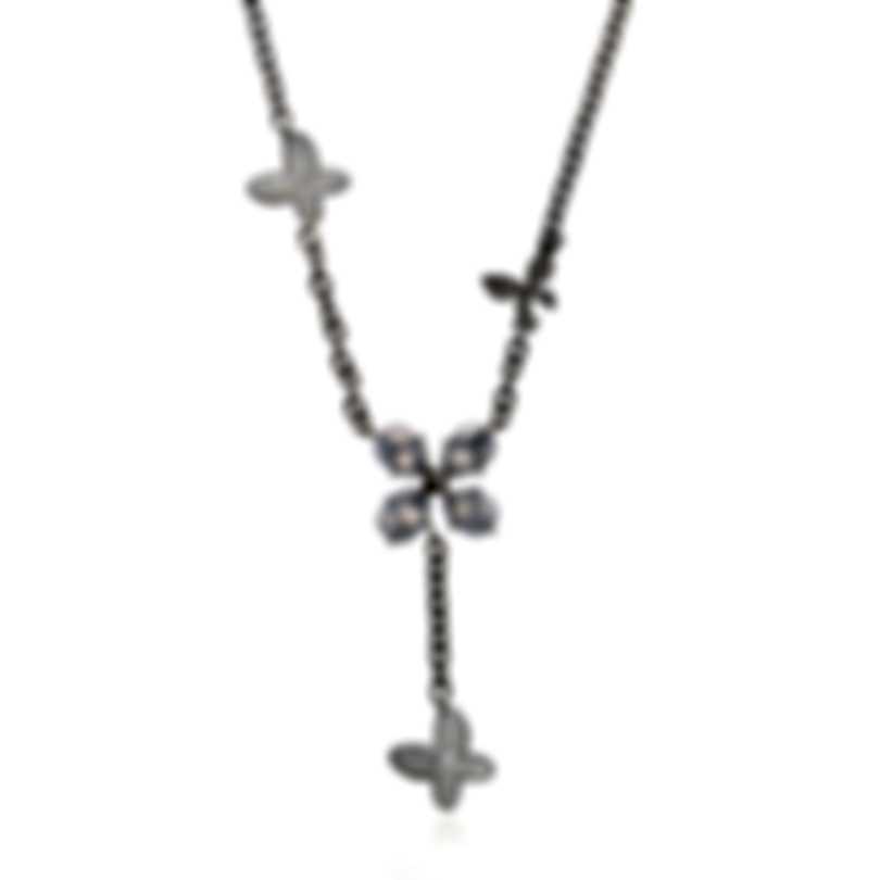 Mimi Milano Freevola 18k Gold Diamond .15ct Chalcedony-MOP Necklace CX902B8DMB