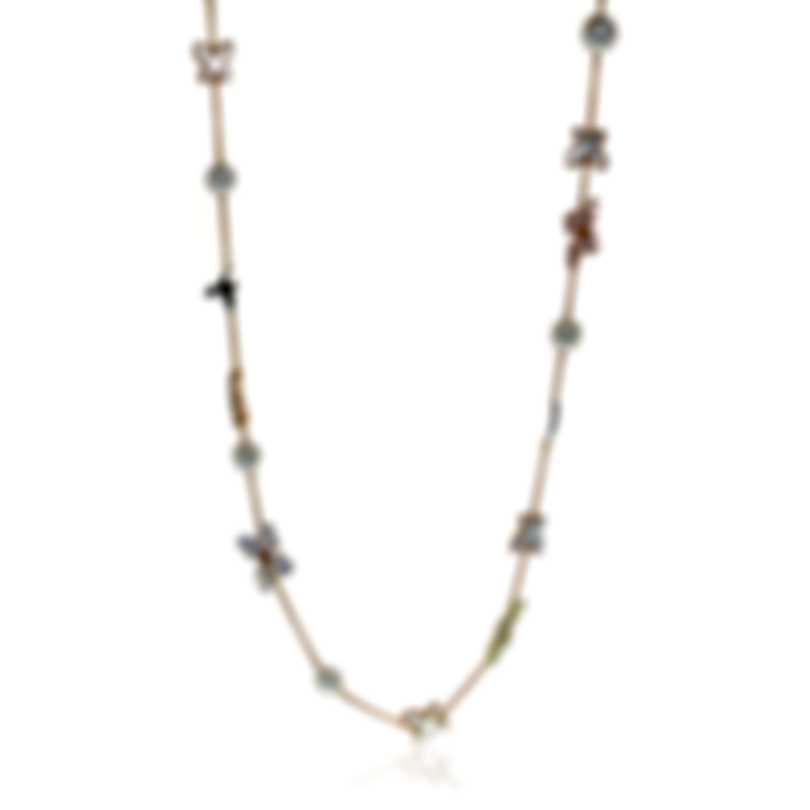 Mimi Milano Freevola 18k Rose Gold Diamond 0.55ct And Pearl Necklace CX907R1XB