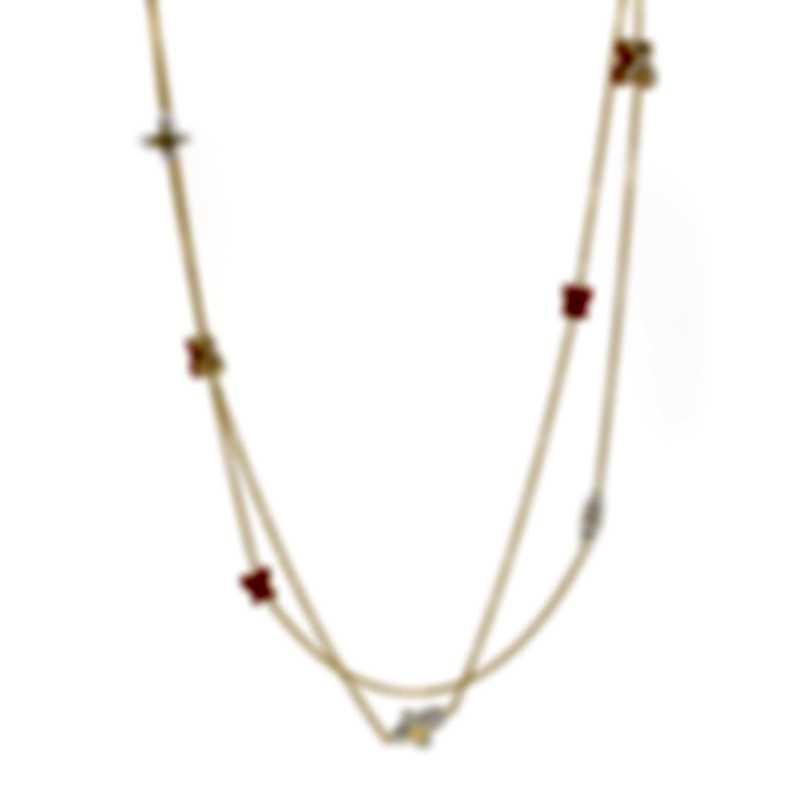 Mimi Milano Freevola 18k Gold Diamond .45ct Coral-Kogolong Necklace CXM246G8P81B