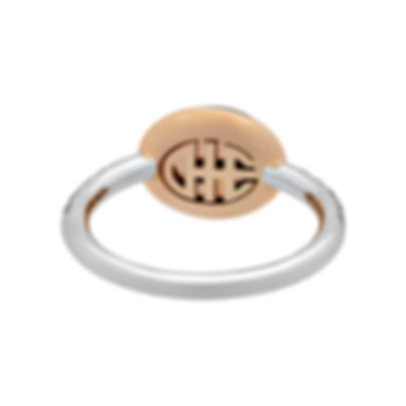 Mimi Milano 18k Rose & White Gold Diamond And Amethyst Ring Sz 6.5 A298C8AB;S53