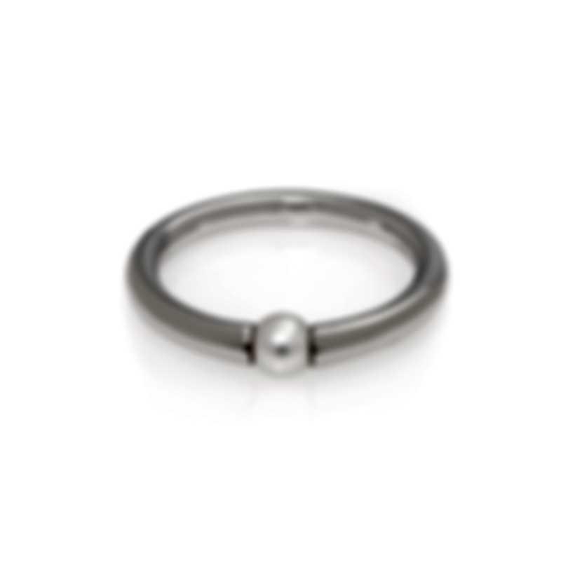 Mimi Milano Nagai Sirenette 18k White Gold And Pearl Ring Sz 7 A364B1-7