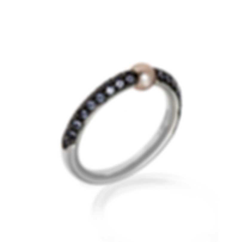 Mimi Milano Nagai Sirenette 18k White Gold And Tananite Ring Sz 8.5 A364B3T-85