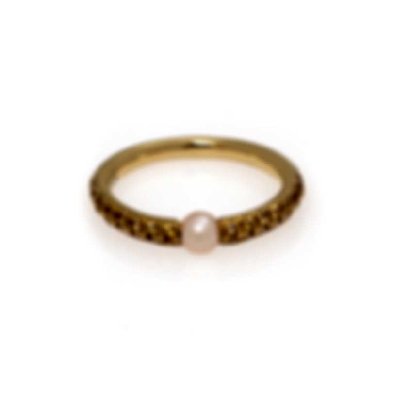 Mimi Milano Nagai Sirenette 18k Yellow Gold And Pearl Ring Sz 8.5 A364G2Z4-85