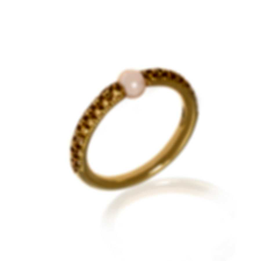 Mimi Milano Nagai Sirenette 18k Yellow Gold And Pearl Ring Sz 6.25 A364G2Z4-625