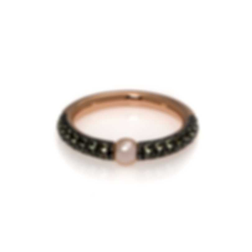 Mimi Milano Nagai Sirenette 18k Rose Gold And Pearl Ring Sz 7.25 A364R2P-725