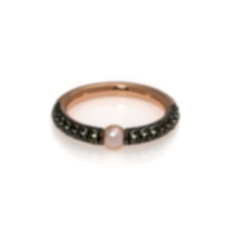 Mimi Milano Nagai Sirenette 18k Rose Gold And Pearl Ring Sz 6.5 A364R2P-65