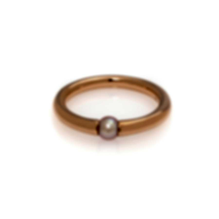 Mimi Milano Nagai Sirenette 18k Rose Gold And Pearl Ring Sz 5.75 A364R3-575