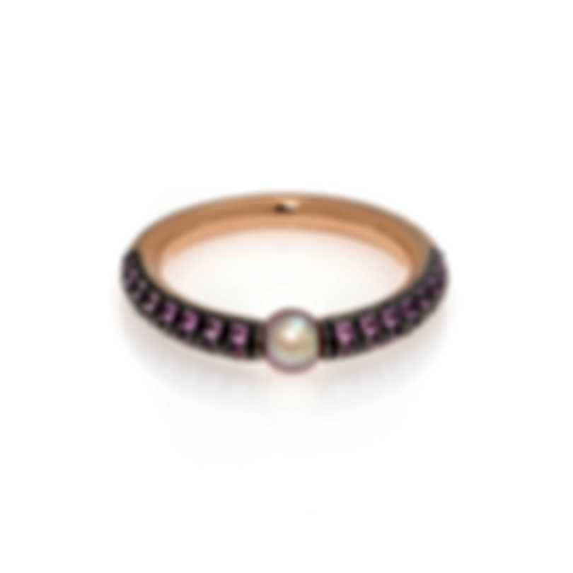 Mimi Milano Nagai Sirenette 18k Rose Gold And Pearl Ring Sz 6.25 A364R3Z2-625