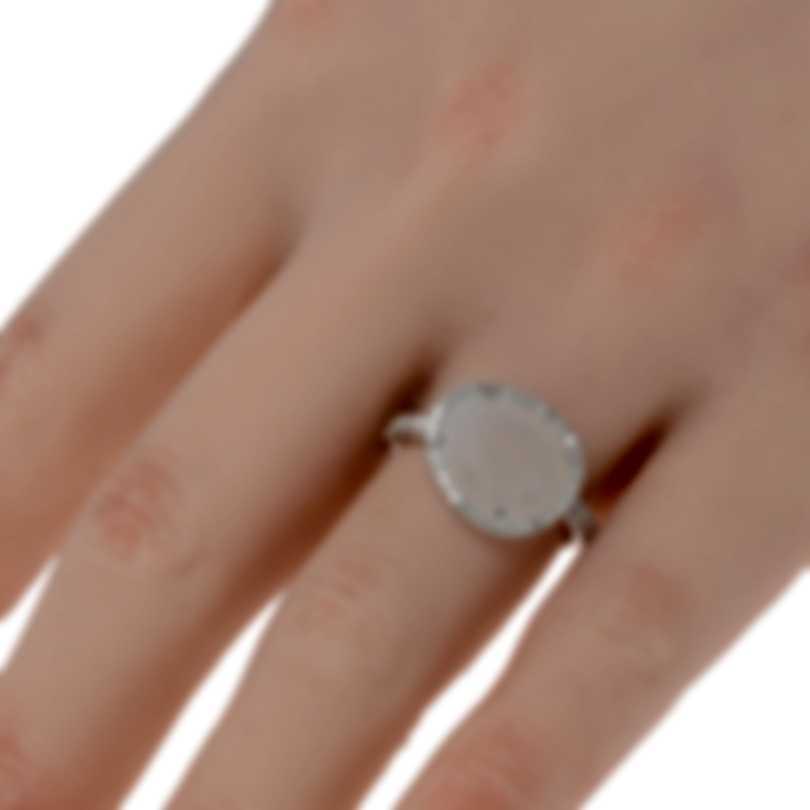 Mimi Milano Talita 18k White Gold Diamond .34ct Moonstone Ring Sz 6.75 A327B8MSB