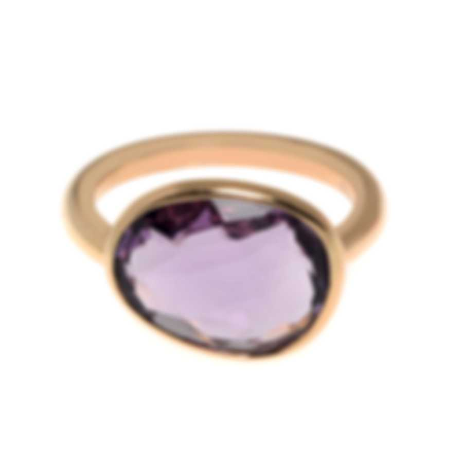 Mimi Milano Talita 18k Rose Gold And Amethyst Ring Sz 6 A327R8A