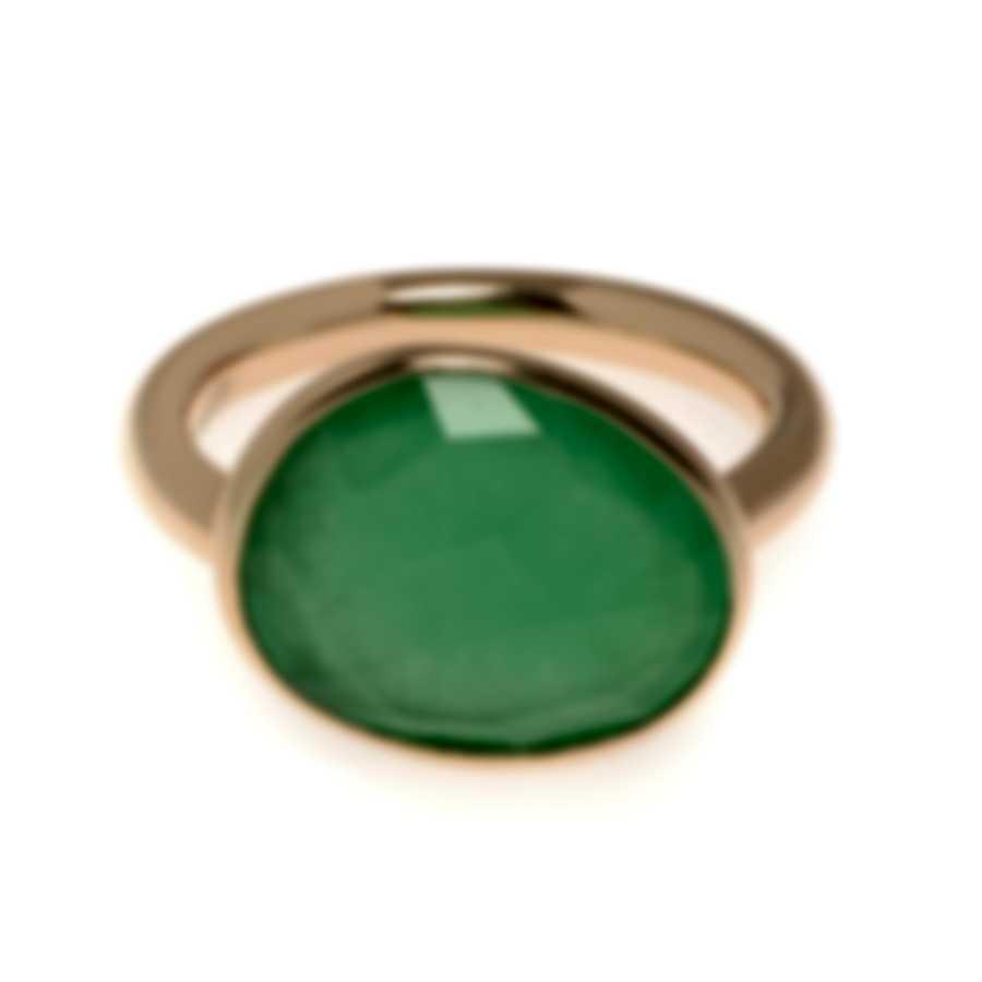 Mimi Milano Talita 18k Rose Gold And Jade Ring Sz 6.5 A327R8G