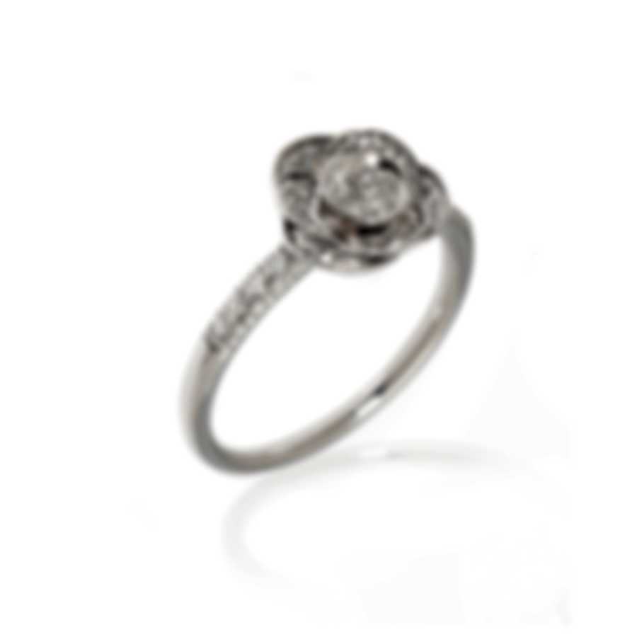 Mimi Milano Rose 18k White Gold Diamond 0.24ct Ring Sz 6.5 A448B8B-65