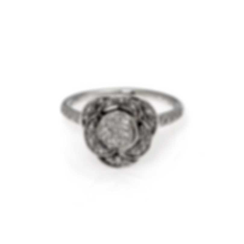 Mimi Milano Rose 18k White Gold Diamond 0.56ct Ring Sz 7 A449B8B-7