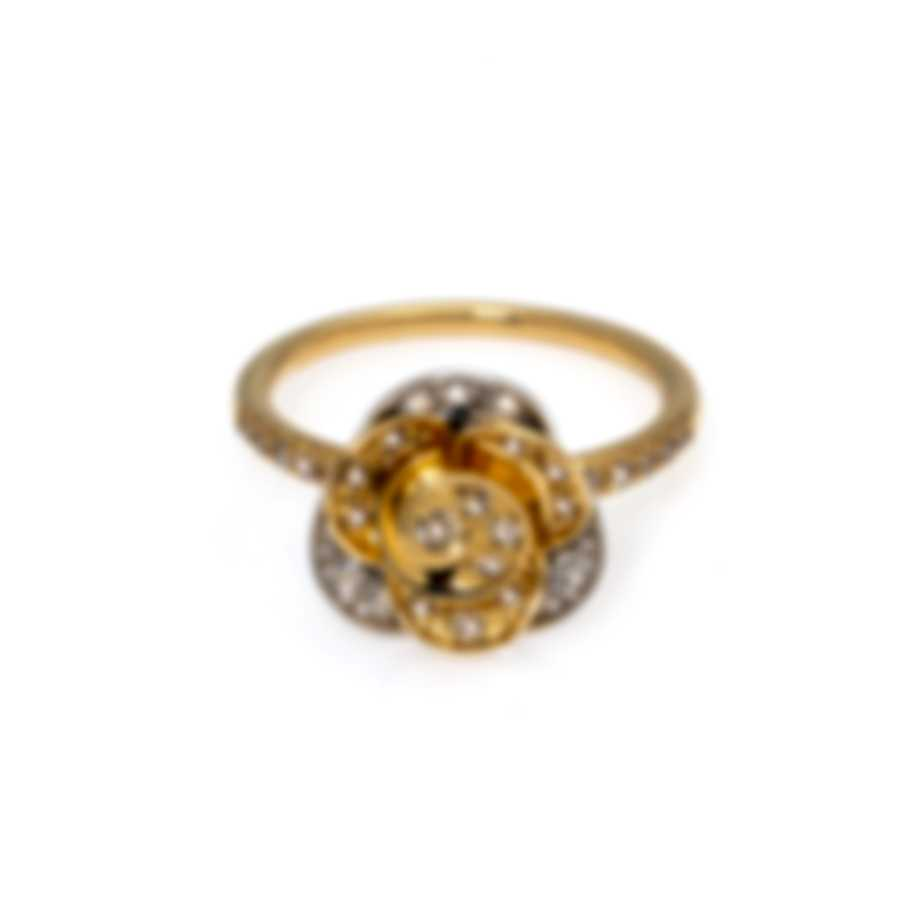 Mimi Milano Rose 18k Yellow & White Gold Diamond 0.67ct Ring Sz 6.75 A449C8BZ4