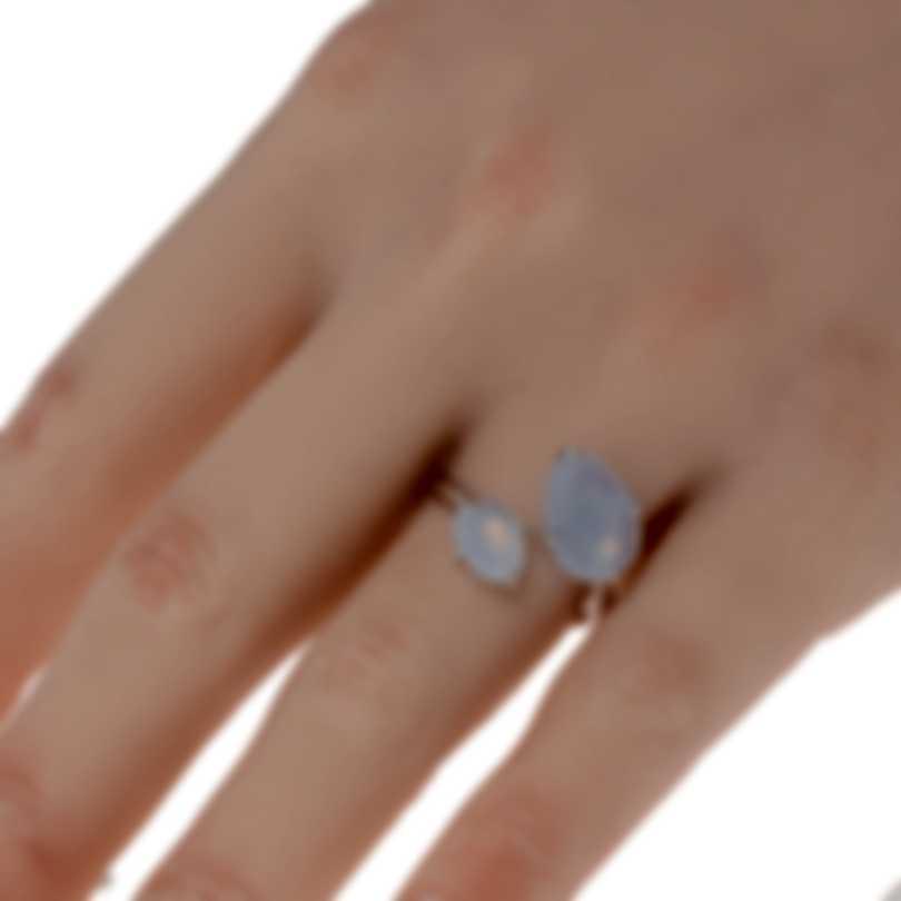 Mimi Milano Mila 18k White Gold And Chalcedony Ring Sz 7 A575B8D