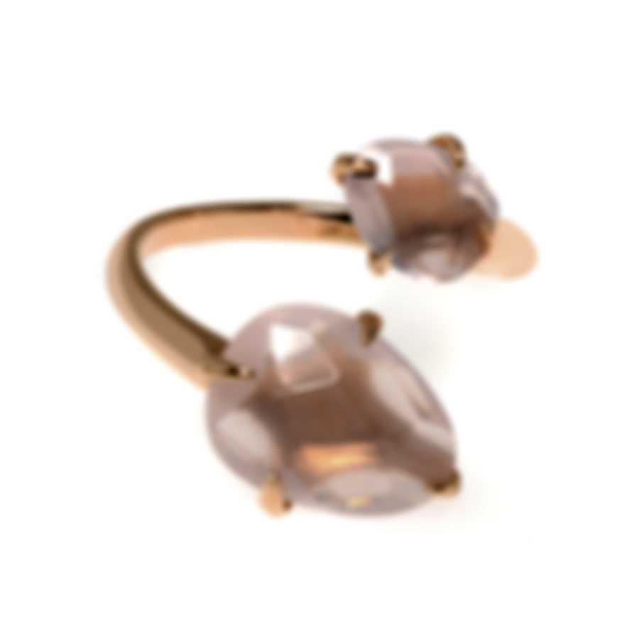 Mimi Milano Mila 18k Rose Gold And Quartz Ring Sz 6.5 A575R8Q
