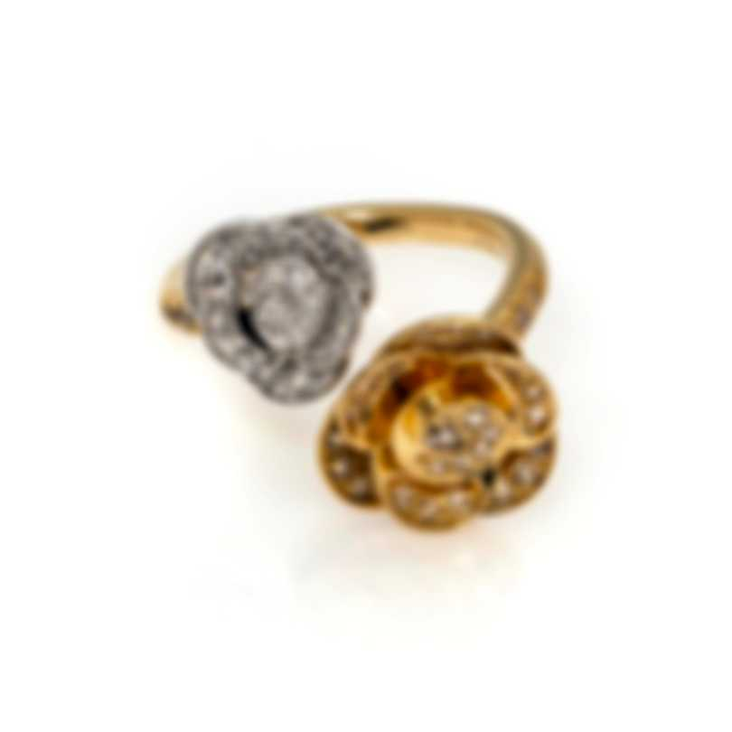 Mimi Milano Rose 18k Yellow & White Gold Diamond 0.53ct Ring Sz 6.5 A507C8BZ4