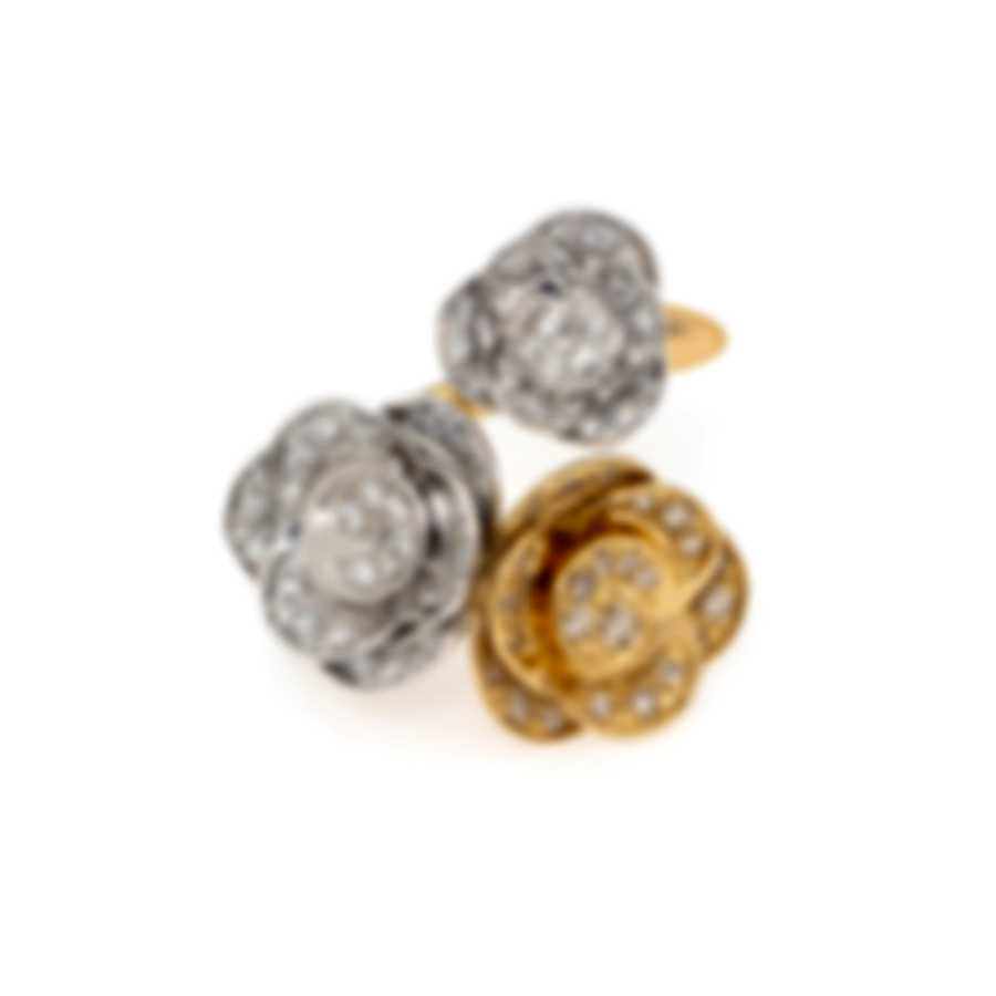 Mimi Milano Rose 18k Yellow & White Gold Diamond 0.61ct Ring Sz 7.5 A506C8BZ4