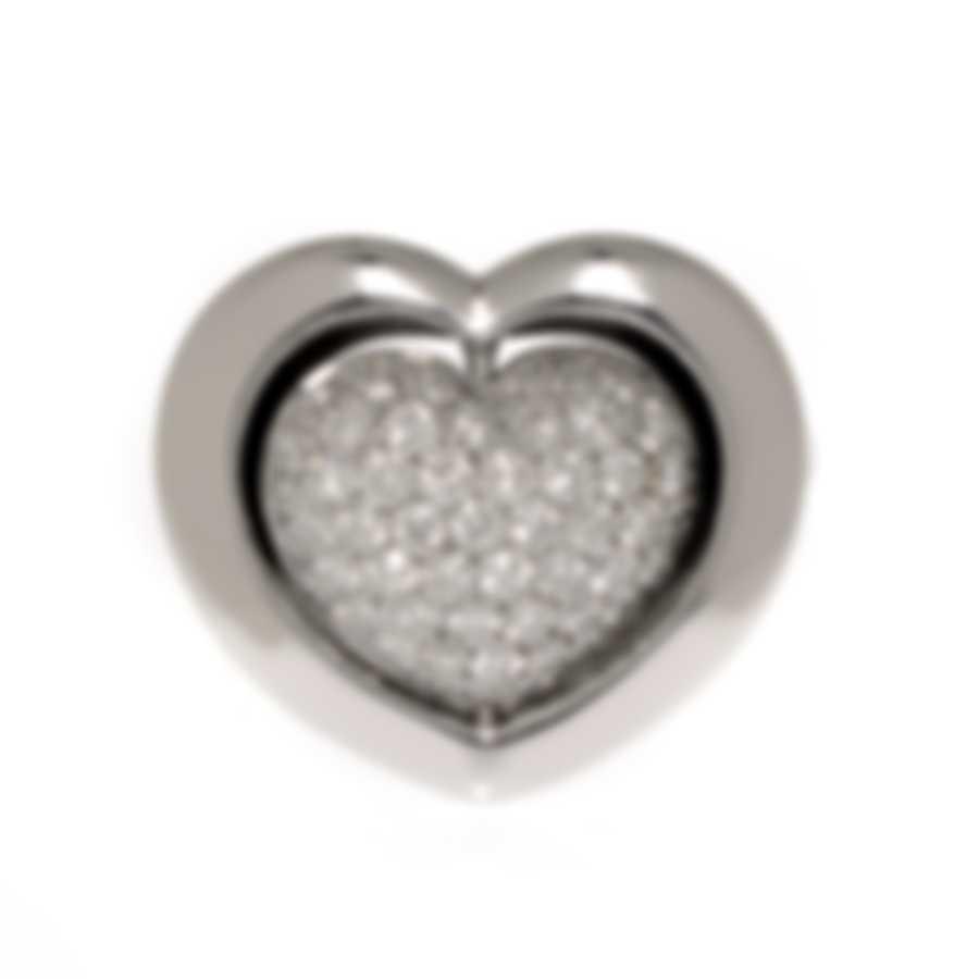 Mimi Milano Giulietta E Romeo 18k White Gold Diamond Ring Sz 6.25 ALM308B8B