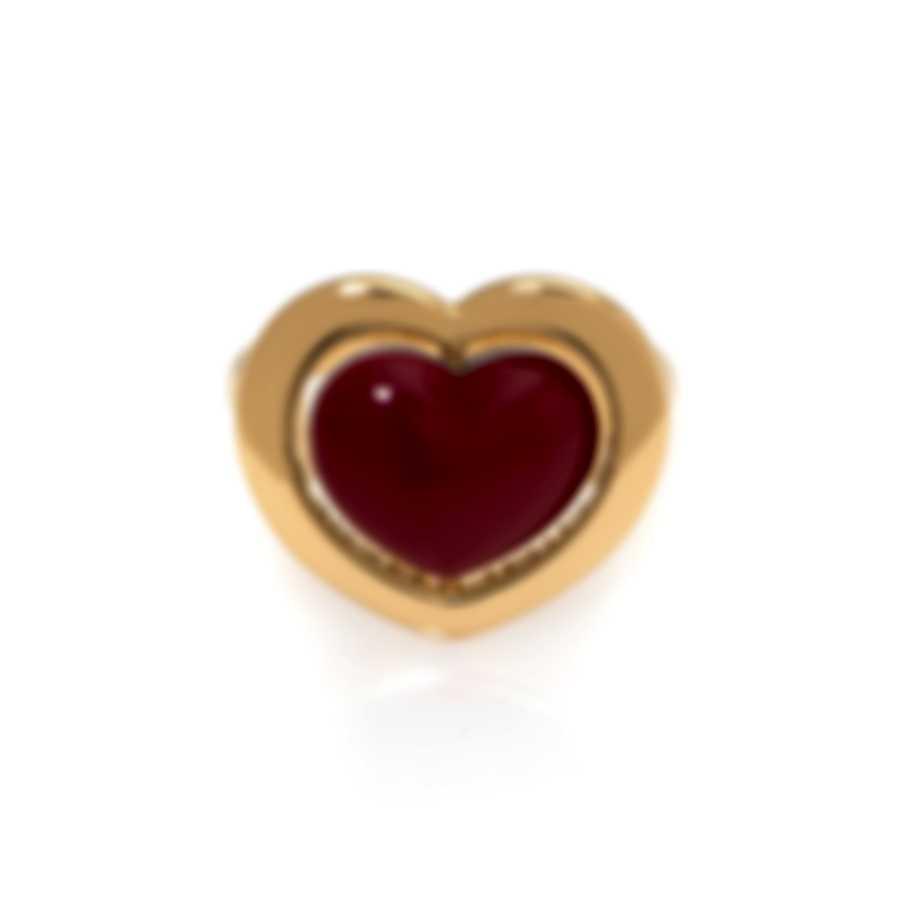 Mimi Milano Giulietta E Romeo 18k Yellow Gold And Coral Ring Sz 6.5 ALM308G8P8