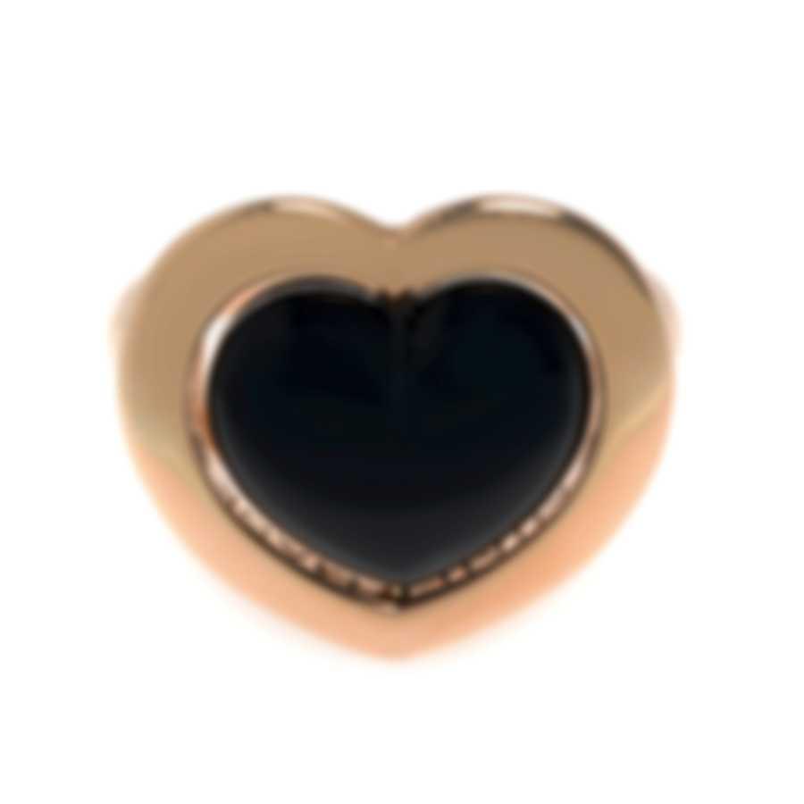 Mimi Milano Giulietta E Romeo 18k Rose Gold And Onyx Ring Sz 6.5 ALM308R8O