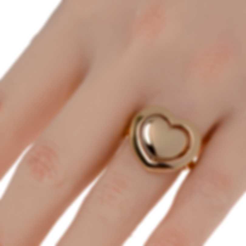 Mimi Milano Giulietta E Romeo 18k Rose Gold Rose Quartzite Ring Sz 7 ALM308R8Q2