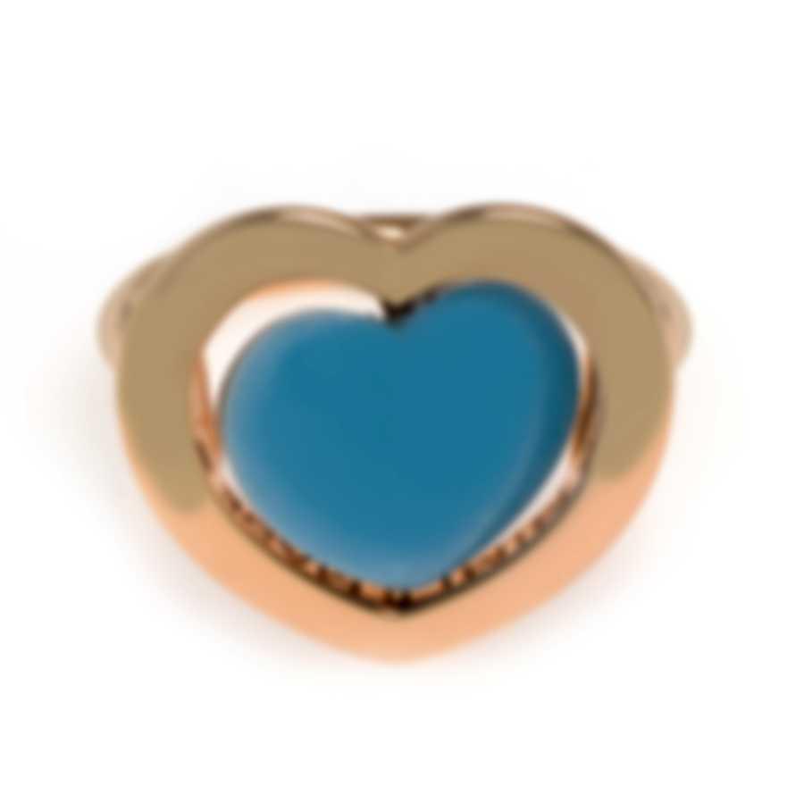 Mimi Milano Giulietta E Romeo 18k Rose Gold Blue Quartzite Ring Sz6.5 ALM308R8Q6