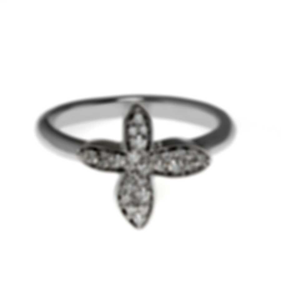 Mimi Milano Freevola 18k White Gold Diamond 0.20ct Ring Sz 6.5 AXM243B8B