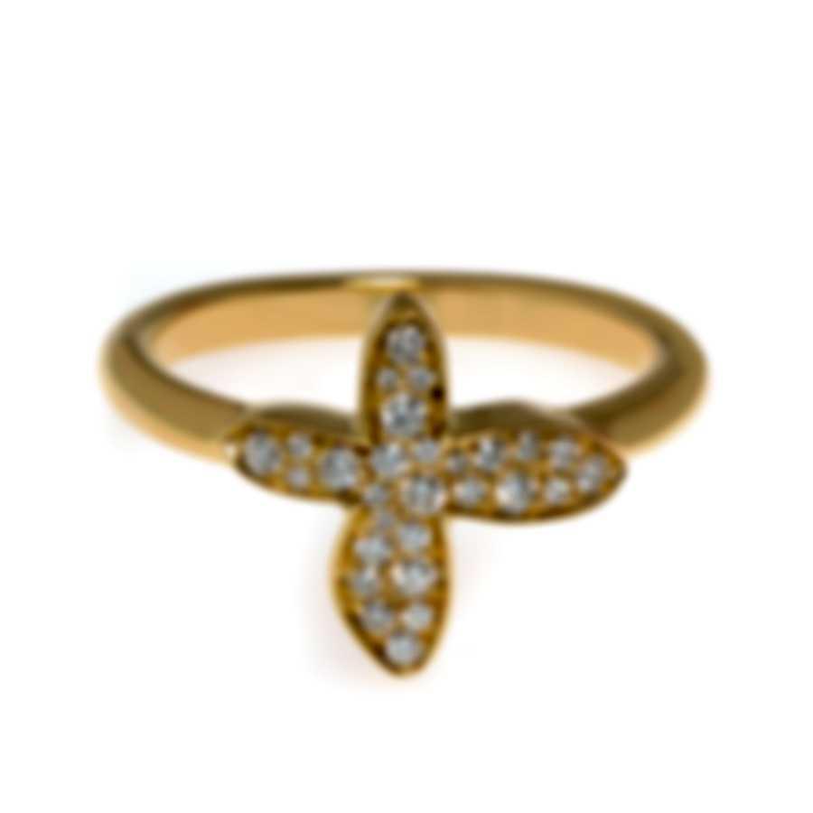 Mimi Milano Freevola 18k Yellow Gold Diamond 0.20ct Ring Sz 6.5 AXM243G8B