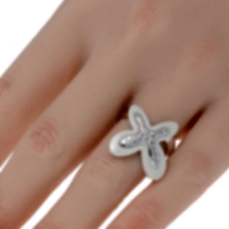 Mimi Milano Freevola 18k White Gold Diamond .30ct Kogolong Ring Sz 6 AXM252B8P1B