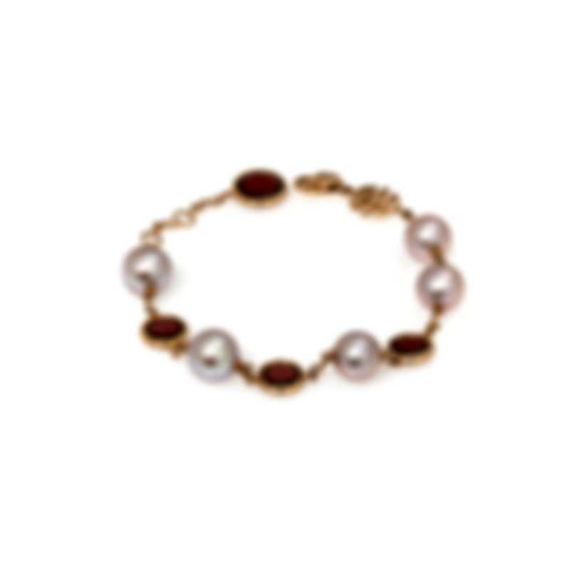 Mimi Milano EN 18k Rose Gold And Garnet Bracelet B171R3H