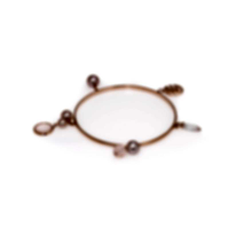Mimi Milano Gocce 9k Rose Gold And Quartz Bracelet B218R3Q