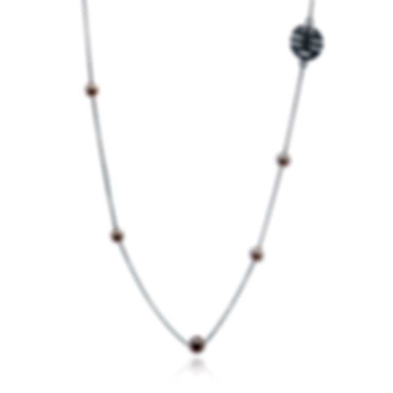 Mimi Milano Ognibene 18k White Gold Diamond 0.26ct And Pearl Necklace C045B03