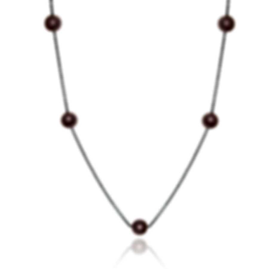 Mimi Milano Ognibene 18k White Gold Diamond 0.26ct And Pearl Necklace C045B04