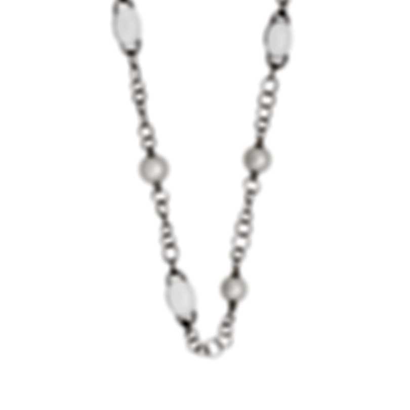 Mimi Milano 18k White Gold And Milky Quartz Necklace C266B1QL