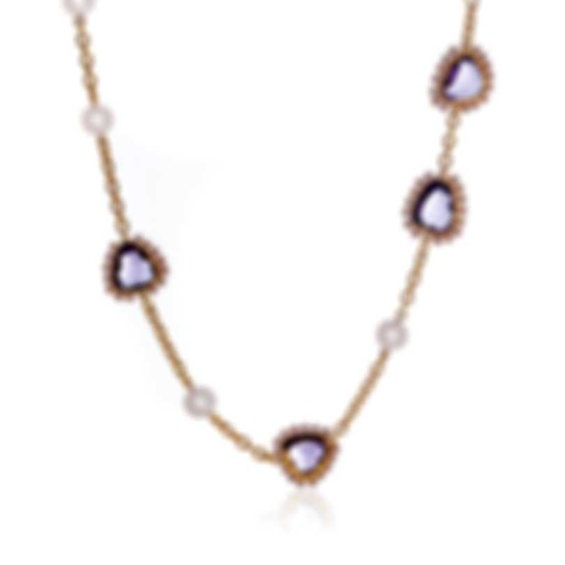 Mimi Milano Diva 18k Rose Gold And Sterling Silver And Pearl Necklace C200R3A