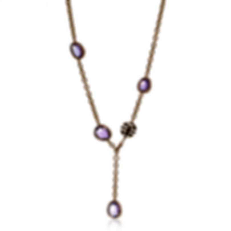 Mimi Milano Talita 18k Rose Gold Diamond 2.90ct And Amethyst Necklace C325R8AB