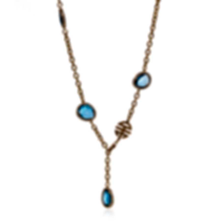 Mimi Milano Talita 18k Rose Gold Diamond 2.90ct London Topaz Necklace C325R8T5B