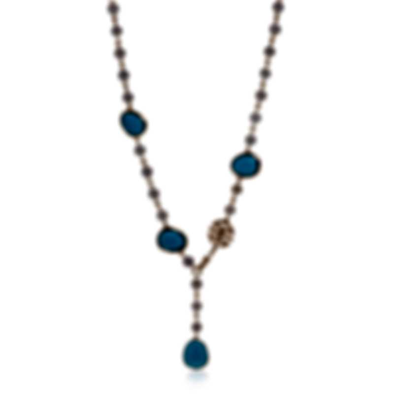 Mimi Milano Talita 18k Rose Gold And Turquoise Necklace C325R319