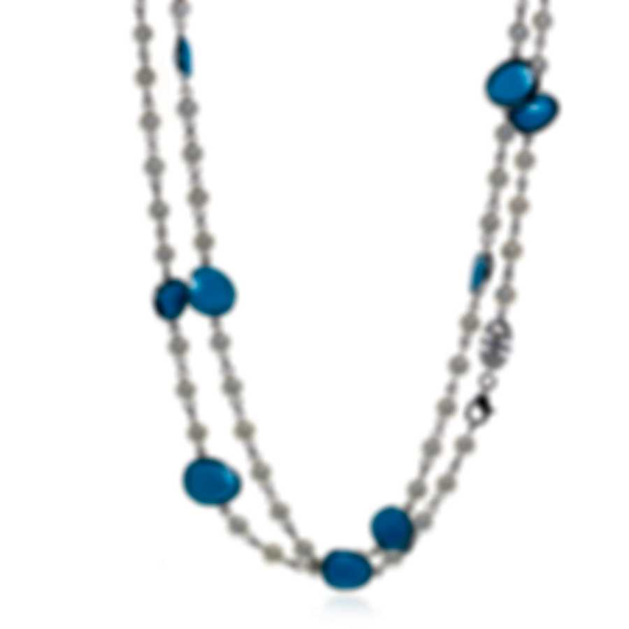 Mimi Milano Talita 18k White Gold And Turquoise Necklace C326B119