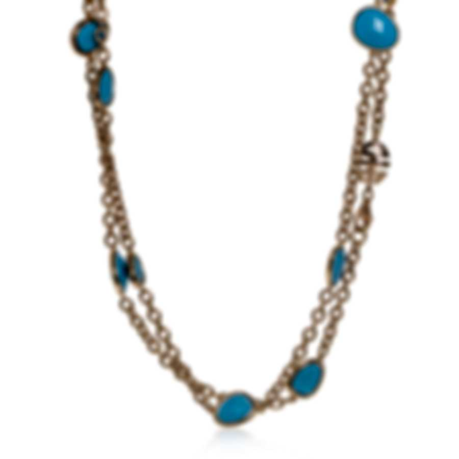 Mimi Milano Talita 18k Rose Gold And Turquoise Necklace C326R819