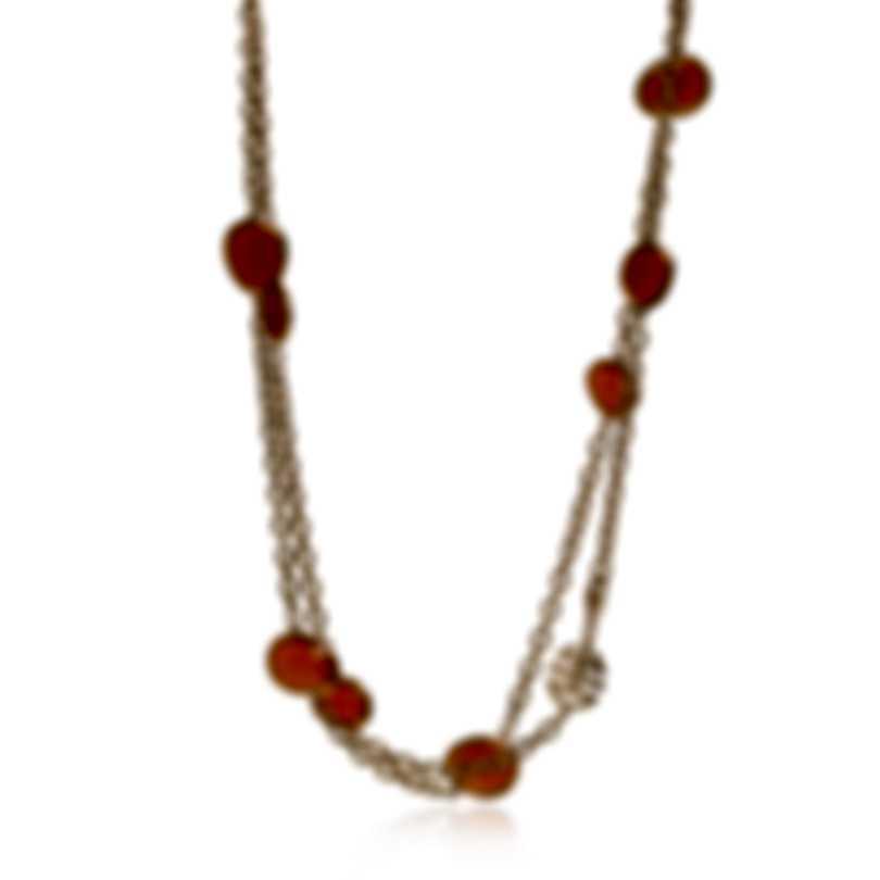 Mimi Milano Talita 18k Rose Gold And Carnelian Necklace C326R8D9