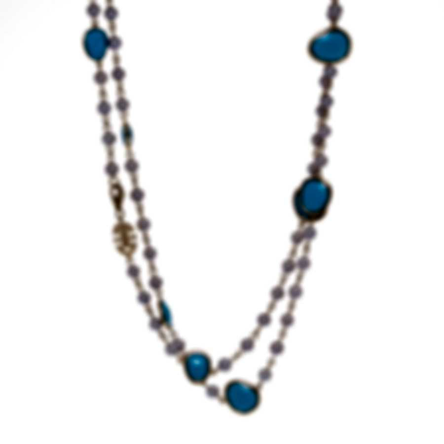 Mimi Milano Talita 18k Rose Gold And Turquoise Necklace C326R319