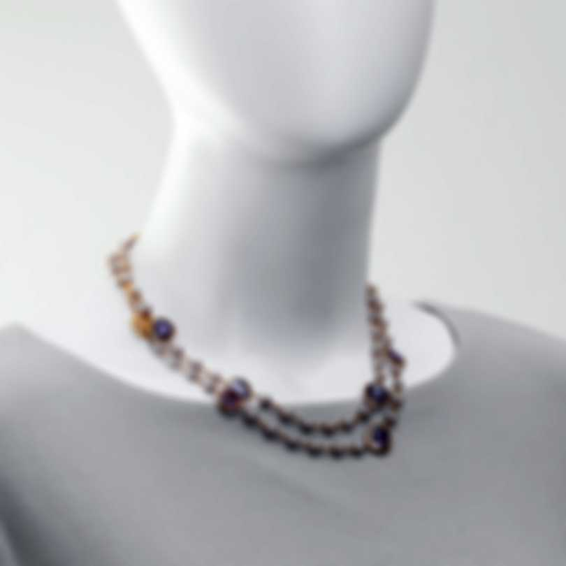 Mimi Milano Talita 18k Rose Gold And Amethyst Necklace C326R3A