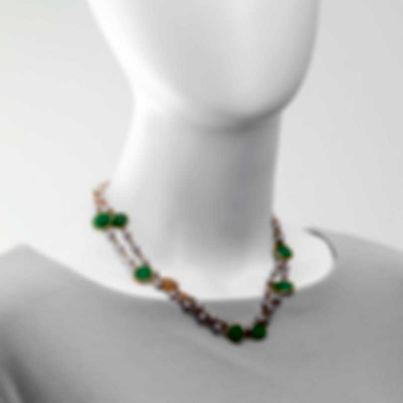 Mimi Milano Talita 18k Rose Gold And Green Jade Necklace C326R3G